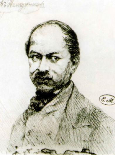 Лев Жемчужников. Портрет Павла Андреевича Федотова. 1861 Офорт
