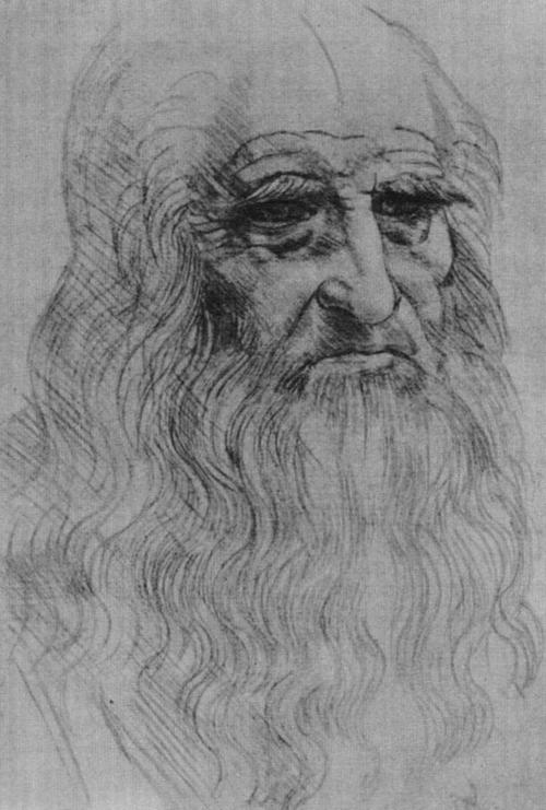 Леонардо да Винчи. Автопортрет. 1510—1513.