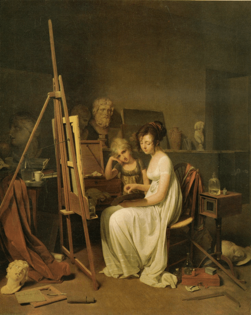 Луи Леопольд Буальи Мастерская художницы. 1800