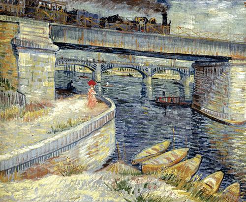 Мосты через Сену в Аньере. 1887 год.