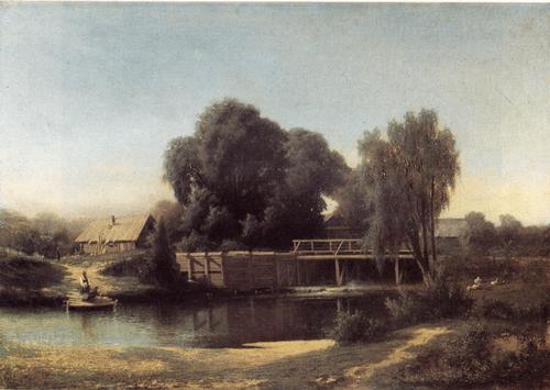 М. К. Клодт. У плотины. 1864