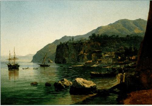 Неоконченная картина Щедрина «Вид Вико между Кастелламаре и Сорренто» (1828) необыкновенно характерна