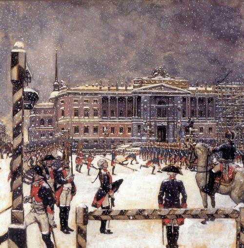 Парад при Павле I. 1907