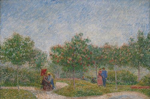 Пары в парке д'Аржансон в Аньере. 1887 год.