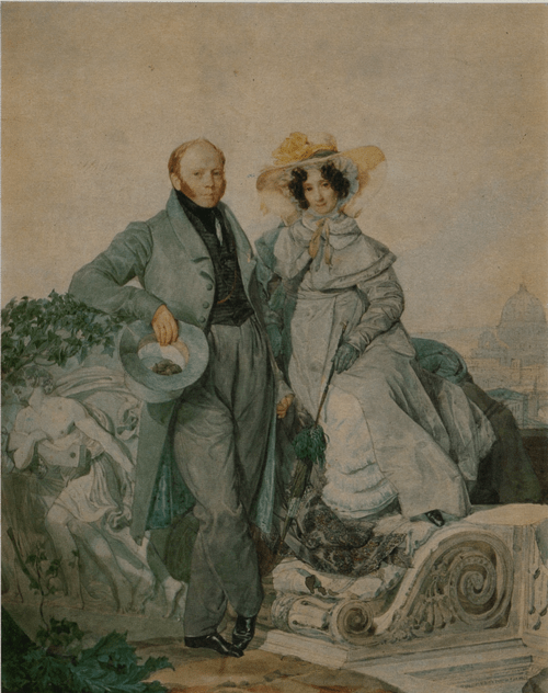 Портрет Г. Н. и В. А. Олениных. 1827