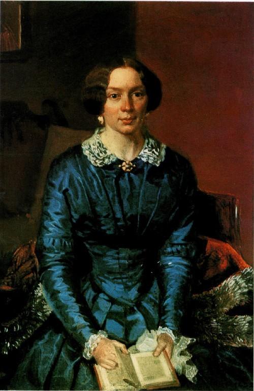 Портрет Елизаветы Петровны Жданович. 1846-1847