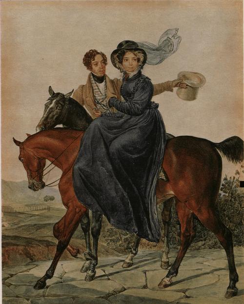 Портрет К. А. и М. Я. Нарышкиных. 1827