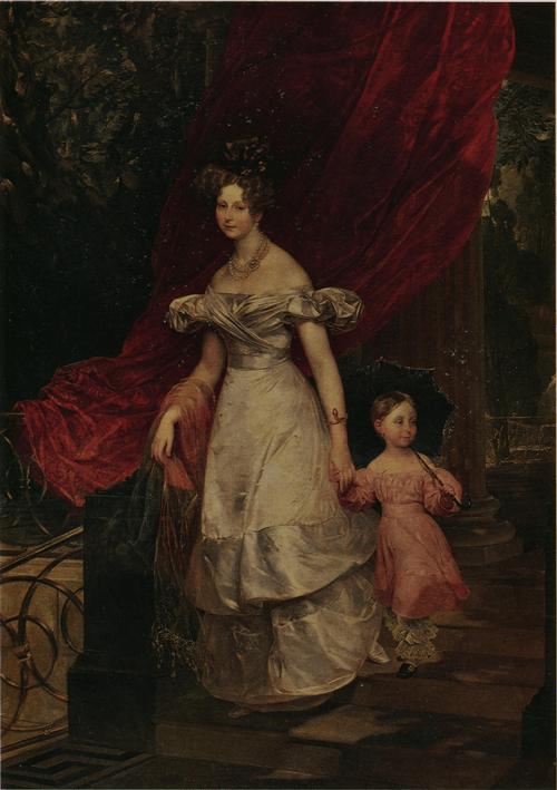 Портрет вел. кн. Елены Павловны с дочерью. 1830