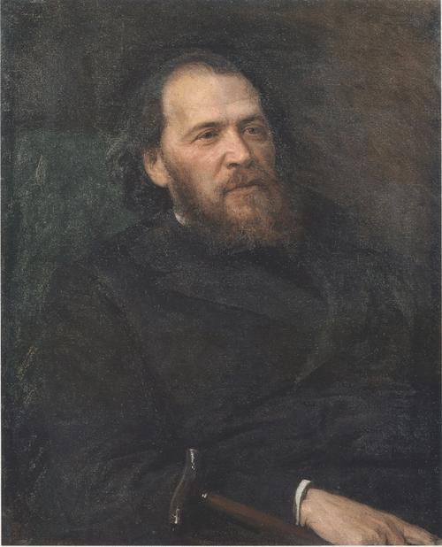 Портрет поэта Я. П. Полонского. 1875