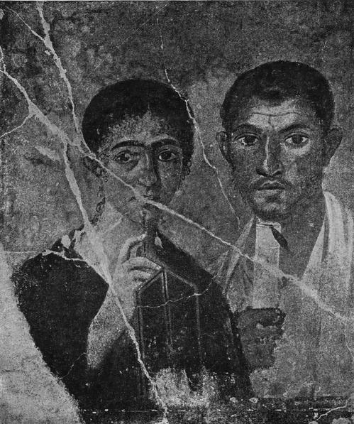 Портрет юриста Теренция Неро и его жены. Роспись из Помпеи. Национальный мувей в Неаполе