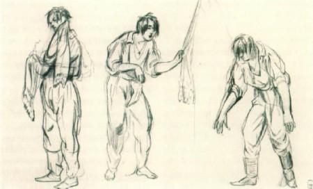После умывания. 1846-1847 Рисунок. Государственный Русский музей, Санкт-Петербург