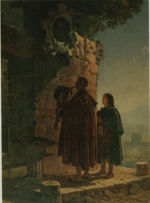 Ппфферари перед образом Мадонны. 1825