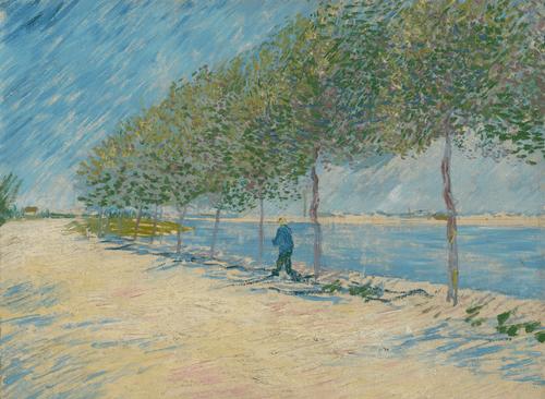 Прогулка вдоль берегов Сены близ Аньера. 1887 год.