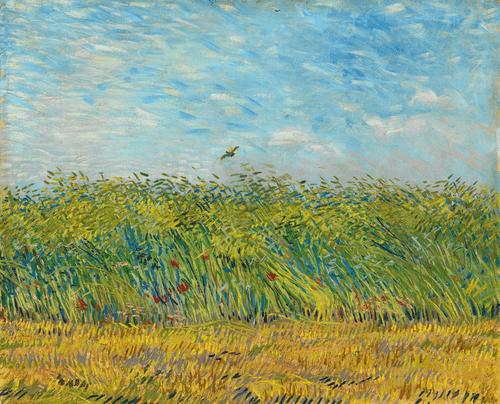 Пшеничное поле с жаворонком. 1887 год.