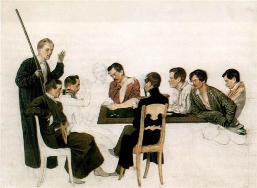 П.А. Федотов и его товарищи по лейб-гвардии Финляндскому полку. 1840-1842