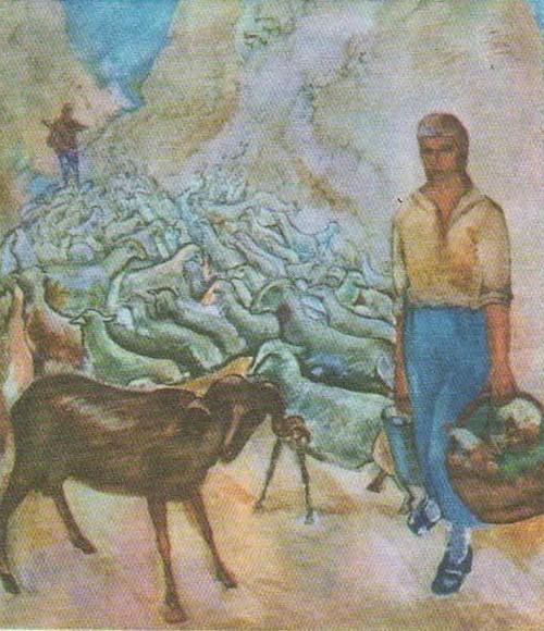 П. Кузнецов. Крымский колхоз. Масло. 1928.