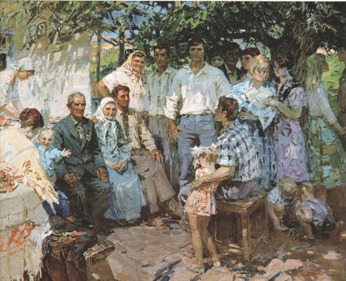 Семья хлеборобов Калиниченко 1981