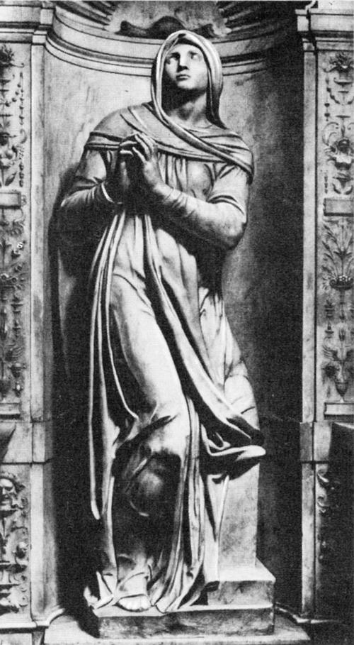 Статуя Рахили, олицетворяющей «Жизнь созерцательную», на гробнице Юлия II.