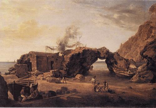 С. Ф. Щедрин. Скалы Малой гавани на острове Капри. Не ранее 1827 г.