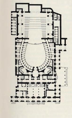 Театр Карло Феличе в Генуе. План. Архит. Каноника и Барабино