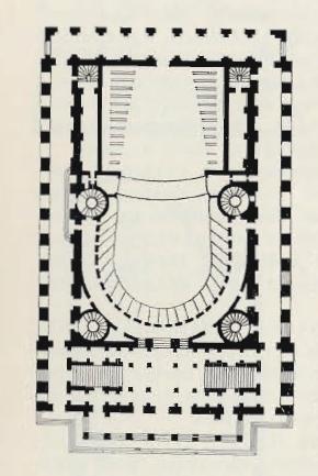 Театр Одеон в Париже. План. Архит. Ж. Пейер-старший и III. де Вальи