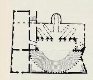 Театр Олимпико в Виченце. План. Архит. А. Палладио