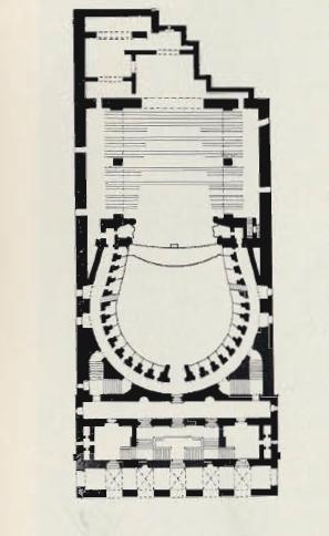 Театр Сан Карло в Неаполе. План. Архит. Альфиери