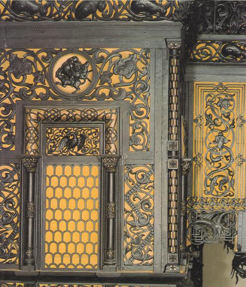 Фасад павильона Рельефы верхнего яруса