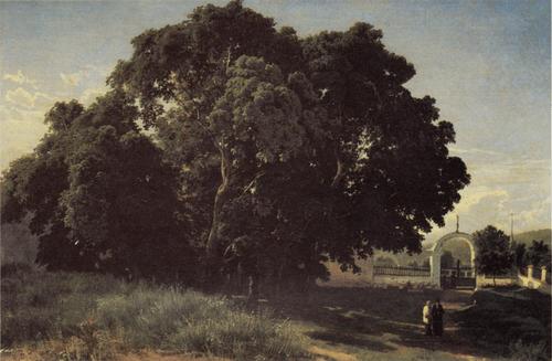 Ф. А. Васильев. В церковной ограде. Ваалам. 1867