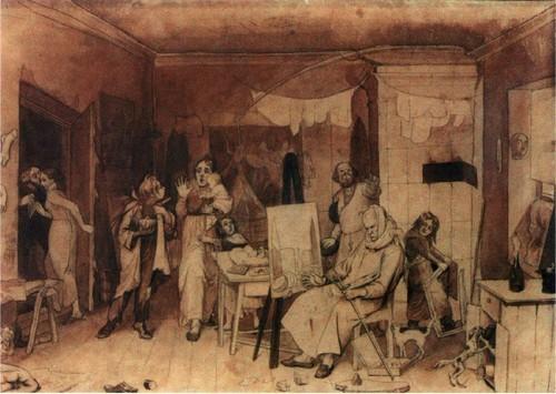 Художник, женившийся без приданого в надежде на свой талант. 1844-1846