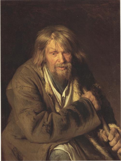 Этюд, поколенный, старого крестьянина (Мужичок с клюкой). 1872