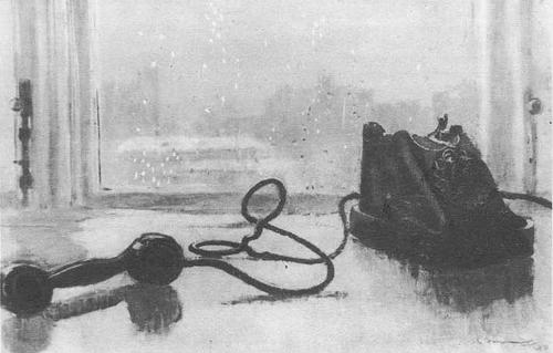 Ю. Пименов, Ожидание. Масло. 1959