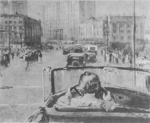 Ю. Пименов. Новая Москва. Масло. 1937.