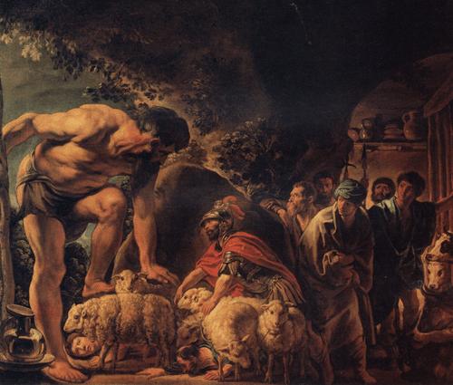 Якоб Йордане Одиссей в пещере Полифема