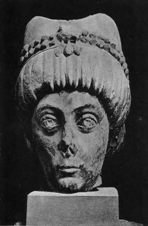 Портрет византийской императрицы. Археологический мувей в Милане