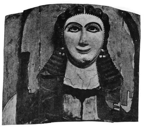 Женская погребальная маска. № 33209. Каирский мувей