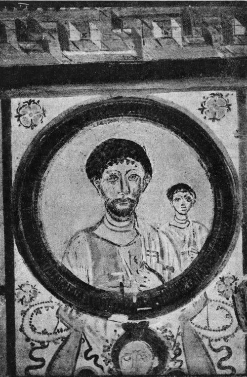 Часть росписи гробницы 259 г. н. э. в Пальмире