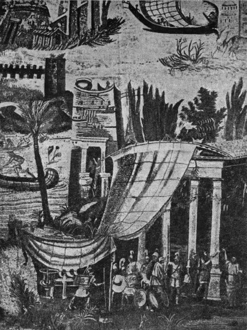 2. Мозаика из Палестрины. Разлив Нила. Деталь. Римские легионеры, Национальный музей в Неаполе.