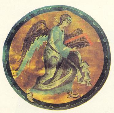 Андрей Рублев Ангел. Символ Евангелиста Матфея. Евангелие Христово. Конец XIV ека