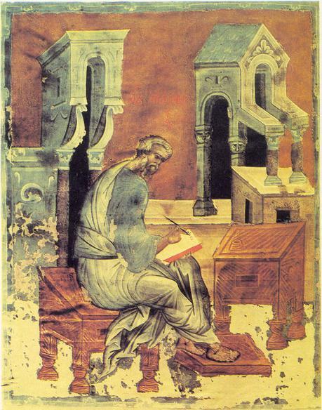 Андрей Рублев Евангелист Матфей. Евангелие Христово. Конец XIV в