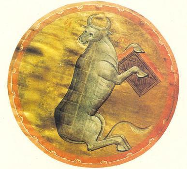 Андрей Рублев. Телец. Символ евангелиста Луки