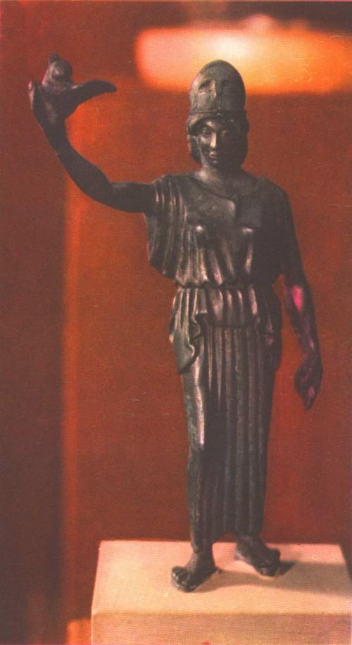 Афина с совой. Бронза Около 460 г до н. э.