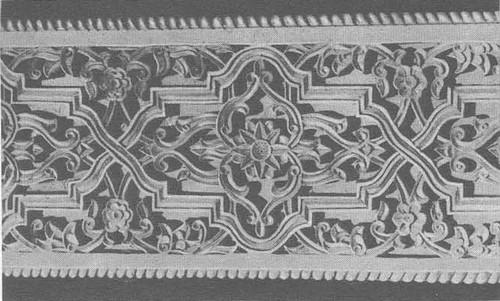 А. Абдулхаков. Фрагмент резного фасада «Дома счастья» в Коканде. Орнаменты «гирих», «ислими». 1974.