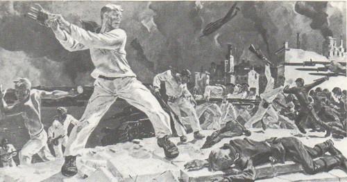 А. Дейнека.Оборона Севастополя. Масло. 1942.