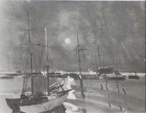 А. Дубинчик. Пирита. Яхты, Масло. 1958.