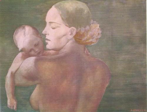 А. Дейнека. Мать. Масло. 1932.