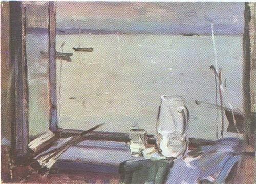 А. Дубинчик. На Себежском озере. Масло. 1956.