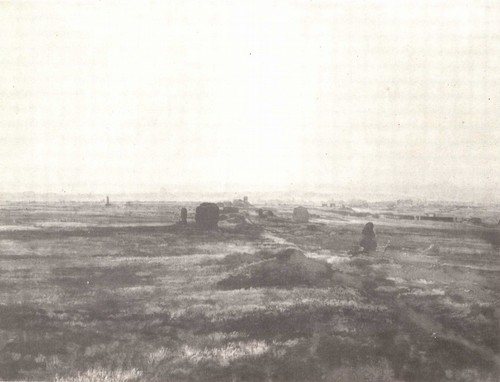 А. Иванов. Аппиева дорога при закате солнца. Масло. 1845