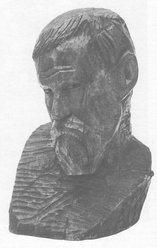 А. Матвеев. Каменотес. Дерево. 1912.