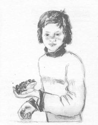 А. Пахомов. Естествоиспытатель. Автолитография, подкраска.